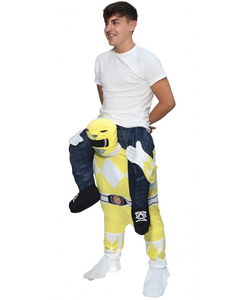 Piggyback Yellow Power Ranger Costume