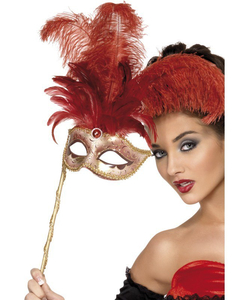 Baroque Fantasy Mask - Red