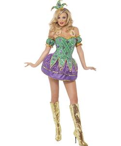Fever Harlequin Costume - Ladies