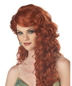 Mermaid Wig - Auburn/Red