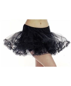 Layered Ruffle Tutu - black