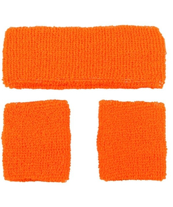 80's Sweatbands & Wristbands - Orange