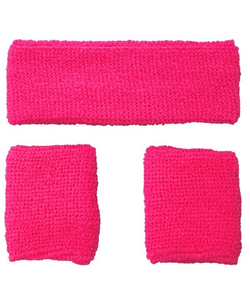 80's Sweatbands & Wristbands - Pink