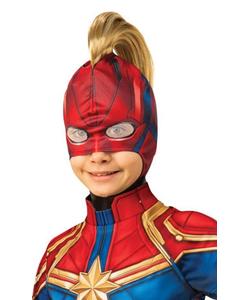 Captain Marvel Headpiece With Hair