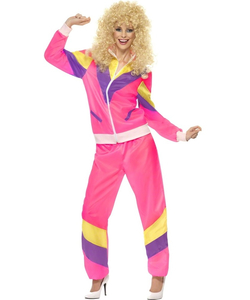 80's Height of Fashion Shell Suit Pink