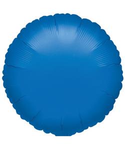"""Round Metallic Blue Foil Balloon - 17"""""""