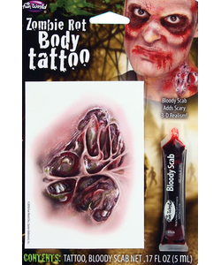 Zombie Rot Body Tattoo