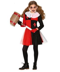 Harlequin Girl Costume - Tween