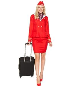 Red Flight Attendant Costume