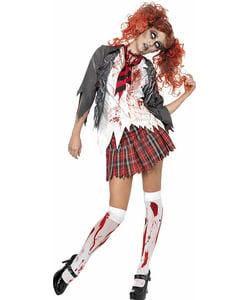 School Girl Halloween Costume College.Zombie Costumes