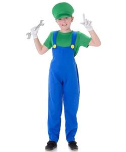 Kids Plumber Green Costume