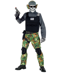 Kids Skeleton Soldier Costume