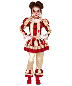 Striped Clown Girl Costume