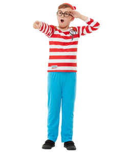 Where's Wally? Deluxe Costume - Kids