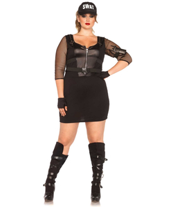Swat Officer Costume - Plus Size