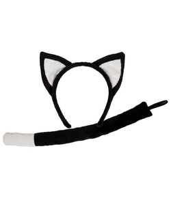Animal Ears And Tail Set - Cat