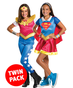 Supergirl And Wonder Woman Twin Pack - Kids
