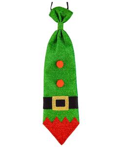 Glitter Christmas Tie - Elf