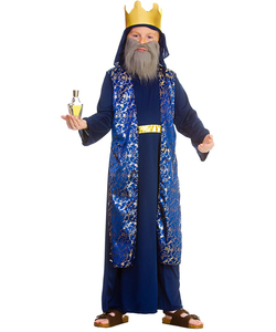 tween Blue Wise Man Costume