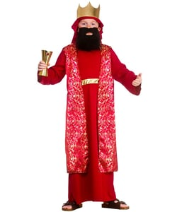tween Red Wise Man Costume