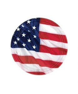 USA American Flag Party Paper Plates - 8 Pack