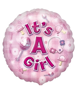 "17"" New Baby Girl Foil Balloon"