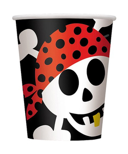 Pirate Fun Party Paper Cups - 8​ Pack
