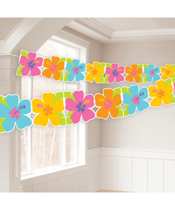 Hawaiian Hibiscus Garland Hanging Decoration 8 ft