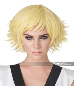 Feathered Cosplay Wig - Blonde