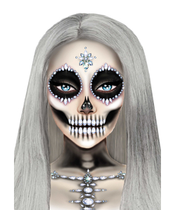 Skeleton face and chest jewelsSkeleton face and chest jewels