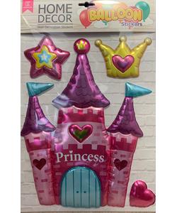 Princess Castle Home Decor Balloon Wall Sticker