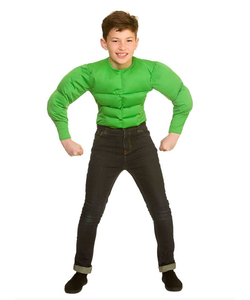 Green Muscle Shirt - Kids