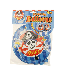 "Pirate Self Inflating 8"" Balloons - 4 Pack"