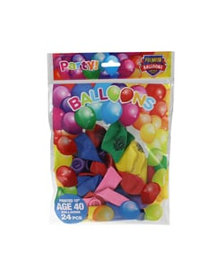 Happy 40th Birthday Balloons - 24 Pack