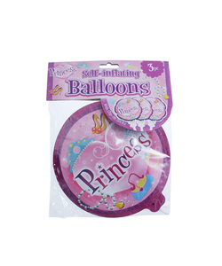 Princess Self Inflating Balloon - 3 Pack