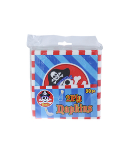 Pirates Party Paper Napkins - 30 Pack