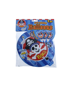 Pirates Self Inflating Balloon - 3 Pack