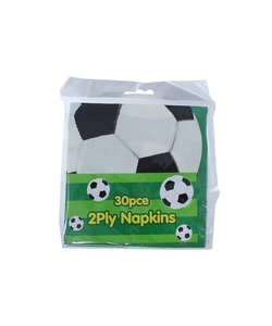 Football 2ply Paper Napkins - 30 Pack