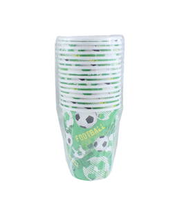 Football Party Paper Cups - 16 Pack