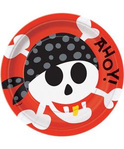 Pirate Fun Paper Plates - 8 Pack