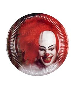 Horror Clown Paper Plates - 6 Pack