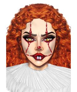 Clown Face Jewels Stickers