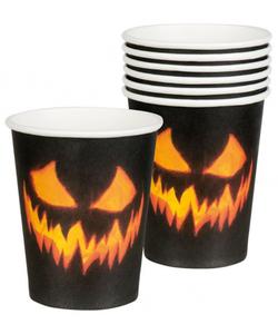 Creepy Pumpkin Paper Cups - 6 Pack