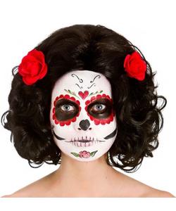 Day of the Dead Senorita Wig - Black