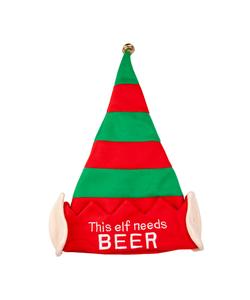 This Elf Need beer- Christmas Hat
