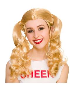 Ladies Cheerleader Wig - Blonde