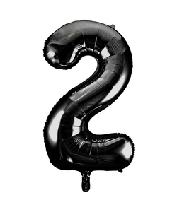 Black Numbered Foil Balloon #2