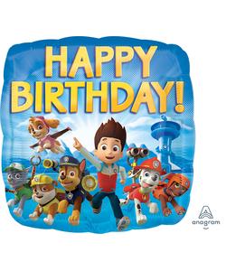 "Paw Patrol Happy Birthday Foil Balloon - 17"""
