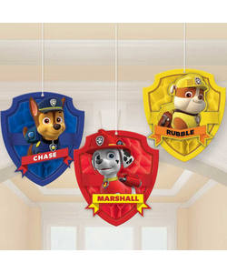 Paw Patrol Honeycomb Decorations