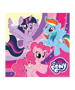 My Little Pony Luncheon Napkins 33cm - 20 Pack